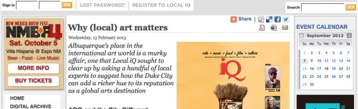 Why (Local) Art Matters – Interview IQ Magazine
